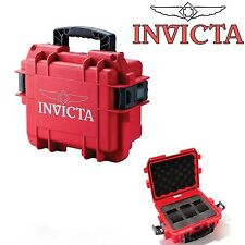 Invicta 3 Slot Red Collectors 'Diver Case'-  Impact Resistant - NOW UK FREEPOST