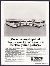1972 Champion 18 ft. 20 ft. 24 ft. 28 ft. Motor Home photo promotional print ad