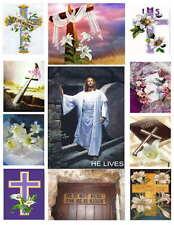 RELIGIOUS EASTER PHOTO-FRIDGE MAGNETS 11 IMAGES