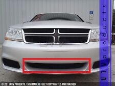 GTG 2011 - 2014 Dodge Avenger 1PC Gloss Black Overlay Bumper Billet Grille Grill