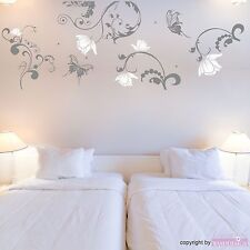 Wall Tattoo Large Elfenzimmer with Names Flowers Kid/'s Room Wall Sticker