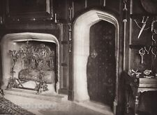 1926 UK England ATHELHAMPTON DORCHESTER CASTLE King's Chamber ~ Interior Design