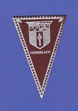 c1910 L51 tobacco leather pennant shaped Renesslaer University 1
