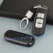 Piano Black Smart Car Key Chain Protector Shell Holder For Mazda 2 3 6 CX-3 CX-5