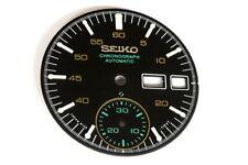 Dial for Seiko 6139-7100/7101 helmet chronograph - Black
