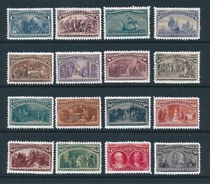 Artiststamp Replica Sc 230-245 USA Columbian Issue Set MNH