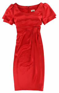 Karen Millen Damen Kleid Dress Gr.38 Cocktailkleid Elegant Rot 113109