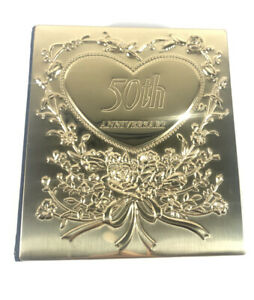 50th Anniversary Gold And Felt Photo Album 6.5x6 Inches