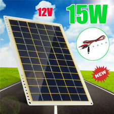15W 12V Solar Panel Battery Charger 4X Suction Cups for RV Boat Car Home Camping
