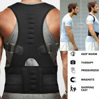 Magnetic Boned Therapy Posture Corrector Pain Relief Brace Back Shoulder Support