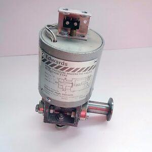 "Edwards SV10 Speedivac High Vacuum Magnetic Valve Isolation type 1/2"" 0.5 inch"
