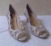 """Alex Marie Womens Size 9.5M Gold Open Toe Kitten Sandal Heel NEW! 3"""" Heels"""