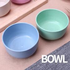 4pcs/set Kids Bowl Cereal Breakfast Wheat Straw Bowl Health Dinnerware For Kids