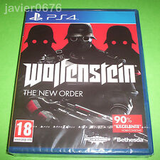 WOLFENSTEIN THE NEW ORDER NUEVO Y PRECINTADO PAL ESPAÑA PLAYSTATION 4 PS4