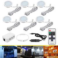 6x 12V Dimmable LED Boat Interior Spot Light Lamp RV Camper Caravan
