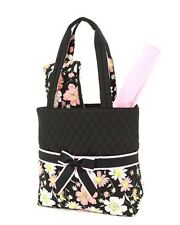 NEW BELVAH QUILTED FLORAL PATTERN 3PC DIAPER BAG QCF1103L(BKPK) BABY GIFT