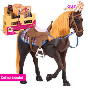 """OUR GENERATION THOROUGHBRED 20 Inch HORSE 8 pcs Accessories for 18""""/46cm Dolls"""