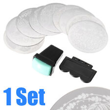 10pcs Manicure Nail Art Stencil Stamping Template Plates DIY Tool + Stamper