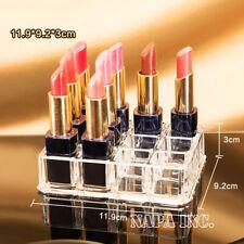 12 Girds Clear Acrylic Lipsticks Cosmetic Organizer Lip Gloss Holder Storage Box