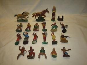 DDR Masse Figuren 7cm Cowboy und Indianer passend zu Elastolin Lineol