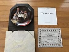 """Norman Rockwell """"The Gourmet"""" Collector Plate - 1985 - Knowles China Co."""