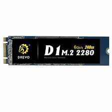 DREVO D1 M.2 2280 240GB Internal SSD Solid State Drive SATA 6Gb/s Read 500MB/S