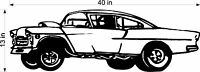 DRAGSTER 1955  VINYL DECAL FOR GARAGE WALL / TRAILER / TOOLBOX CLASSIC CAR