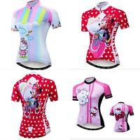 Maglia ciclismo Donna Hello Kitty Minnie maglietta Bici Bicicletta MTB