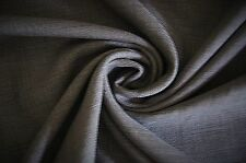 """Brown w/ Black Linen Blend Fabric Over 2 Yards 78"""" X 60""""  Thanksgiving"""