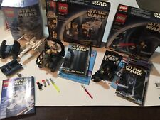 RARE Vintage Lego Star Wars LOT W Box's Instructions,Only Was Displayed W/extras