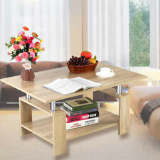 Couchtisch Beistelltisch Wohnzimmertisch mit Ablage Sofa Tisch Holztisch GO 05
