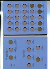 1857 - 1909 Indian Head Penny Partial 30 Coin Set With Folder Circulated 2113H