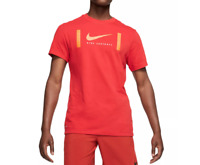 Nike T Shirt Mens Authentic Dri Fit Brotherhood Football Short Sleeve Tee Red