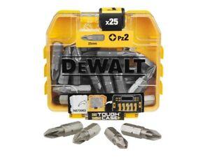 Dewalt DT71521-QZ Screwdriver Bits No. 2 Pozi PZ2 x 25mm Pack of 25 Bits