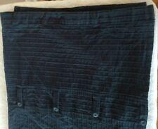 NAUTICA Solid DARK Navy BLUE Shower Curtain MENs Modern Coastal Masculine Ribbed