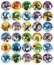 30 x Skylanders Cupcake Toppers Edible Wafer Paper Fairy Cake Toppers