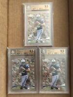 (2) 2012 ANDREW LUCK TOPPS PRIME RETAIL BGS 9.5 LOT COLTS ROOKIE RC