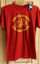 NWT USMC United States Marines Corps Bulldog Red T-Sirt Mens Size Large