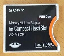 Sony Duo Memory Card to Custom Flash (CF) adapter