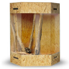 "Eckterrarium Eck Terrarium OSB 180x100x100 cm Seitenbelüftung Holz ""Madagaskar"""