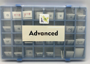 k12 Advance Alphabet Tile Set In Plastic Case Unopened #04678 Educational
