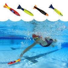 Summer 4Pcs/Set Games Diving Torpedo Rocket Swimming Pool Kid Fun Toy Underwater