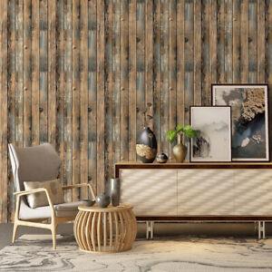 6m Wood Grain Panel Self Adhesive Wallpaper Peel and Stick Contact Paper Decro