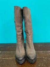 Vic Matie Taupe High Heel Boots Womens Size 36 US 6