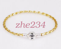 Fashion Leather Bracelets Chain Bangle Fit 925 European Charms Beads beauty