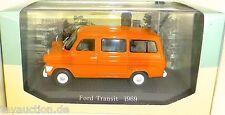 Ford Transit Arancione 1969 Schulbus 1:43 Atlas 7421110 Nuovo Nella Scatola HB4