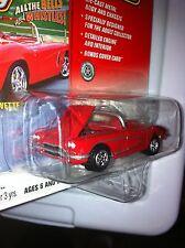 JOHNNY LIGHTNING '61 Super Chevy CORVETTE Lim Ed METAL Real Rider Mag Card MOMC