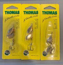 3 Packs Thomas Double Spinn Nickel Gold