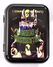 BRIDE OF FRANKENSTEIN  B-MOVIE HORROR MONSTER GOTH HINGED TOBACCO TIN MINTS PILL
