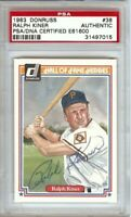 Ralph Kiner Signed Autographed Baseball Card 1983 Donruss PSA/DNA Slabbed Tigers